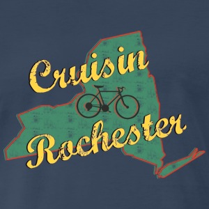 Bicycle Bike Rochester New York Vintage - Men's Premium T-Shirt