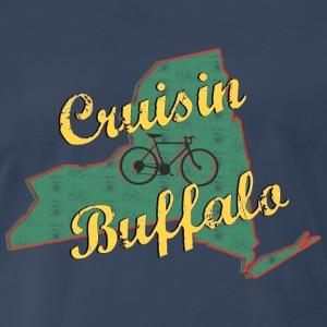 Bicycle Bike Buffalo New York Vintage - Men's Premium T-Shirt