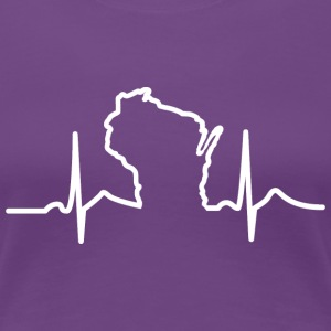 Wisconsin Heart Beat Apparel Clothing T-Shirts Women's T-Shirts - Women's Premium T-Shirt