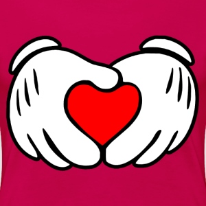 Mickey hands in heart shape - Women's Premium T-Shirt