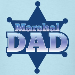 Marshal DAD with sheriff badge T-Shirts - Men's T-Shirt