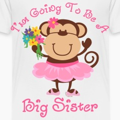 Monkey Future Big Sister Baby & Toddler Shirts
