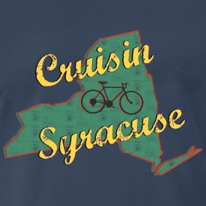 Bicycle Bike Syracuse New York Vintage - Men's Premium T-Shirt