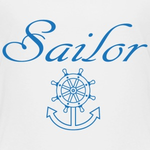 Nautical ship wheel and anchor Baby & Toddler Shirts - Toddler Premium T-Shirt
