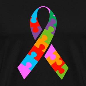 Autism Ribbon - Men's Premium T-Shirt