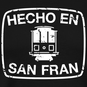 Hecho en San Francisco in White T-shirt - Men's Premium T-Shirt