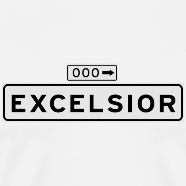 Excelsior Street Sign - Men's Premium T-Shirt