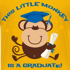 Boy Monkey Graduate Kids' Shirts