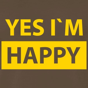 yes i´m happy T-Shirts - Men's Premium T-Shirt