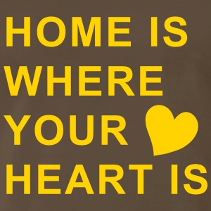 home is where your heart is T-Shirts - Men's Premium T-Shirt