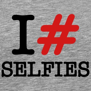 I (Love) Hashtag Selfies T-Shirts - Men's Premium T-Shirt