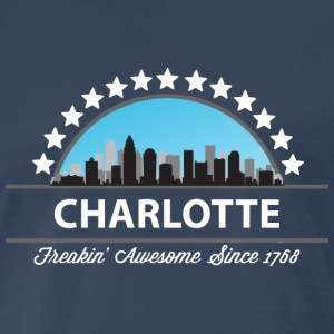 Charlotte North Carolina Freaking Awesome - Men's Premium T-Shirt