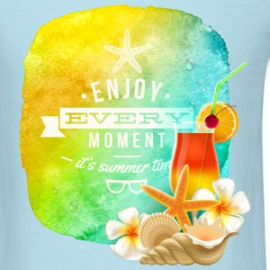 enjoy every moment of summer - Men's T-Shirt