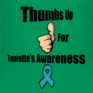 Design ~ Thumbs Up for Tourette's Awareness! Kid's T-Shirt