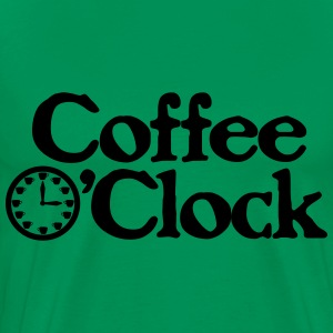 Coffee O'clock Funny Parody Java Apparel T-Shirts - Men's Premium T-Shirt