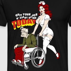 Sexy Nurse And The Playboy Old Man  - Men's Premium T-Shirt