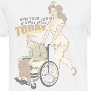 Sexy Nurse And The Old Man - Men's Premium T-Shirt