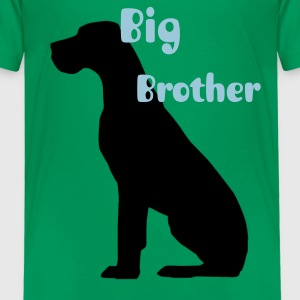 Black sitting Great Dane Kids' Shirts - Kids' Premium T-Shirt