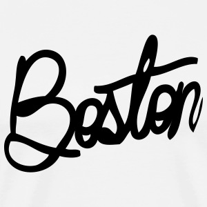Boston Cursive Cute Apparel  T-Shirts - Men's Premium T-Shirt