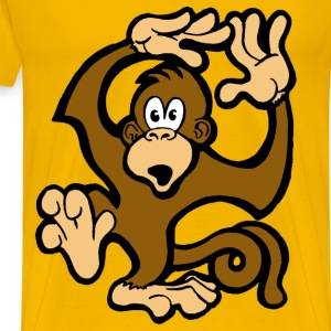 Monkeys Go Swimming - Men's Premium T-Shirt