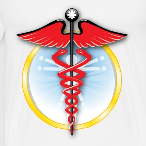 medicine symbol with snake - Men's Premium T-Shirt
