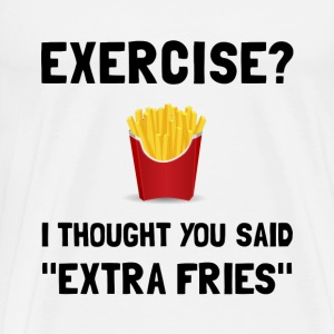 Exercise Extra Fries - Men's Premium T-Shirt