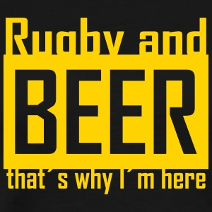 rugby and beer T-Shirts - Men's Premium T-Shirt