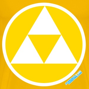 Triforce Gamer Circle - Men's Premium T-Shirt