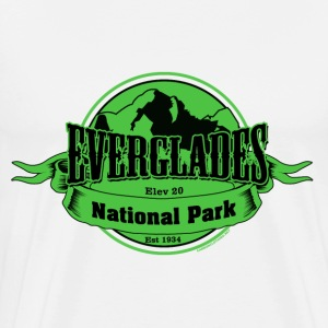 Everglades National Park Euro Oval Sticker - Men's Premium T-Shirt