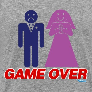 Game Over Marriage - Men's Premium T-Shirt