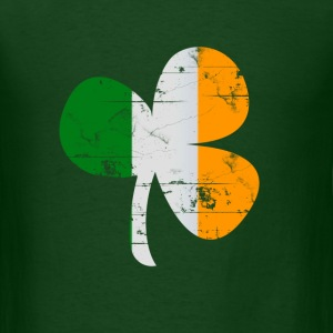 Clover Irish Flag St Patricks Day - Men's T-Shirt