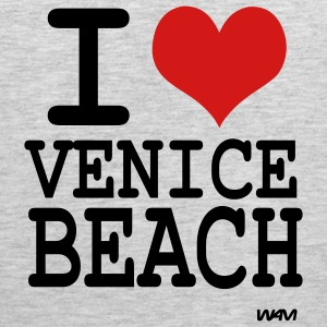 Heather grey i love venice beach by wam T-Shirts - Men's Premium Tank