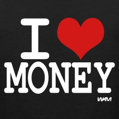 Black i love money by wam T-Shirts