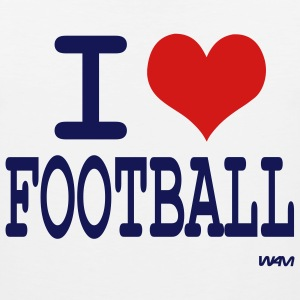 White i love football by wam T-Shirts - Men's Premium Tank
