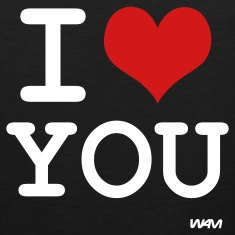 Black i love you by wam T-Shirts