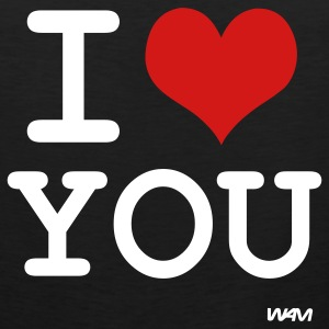 Black i love you by wam T-Shirts - Men's Premium Tank