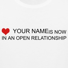 White open relationship custom by wam T-Shirts
