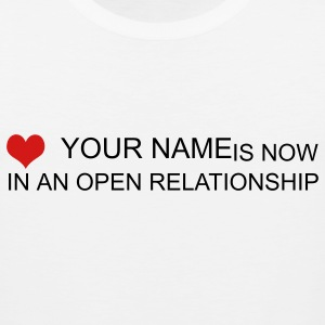 White open relationship custom by wam T-Shirts - Men's Premium Tank