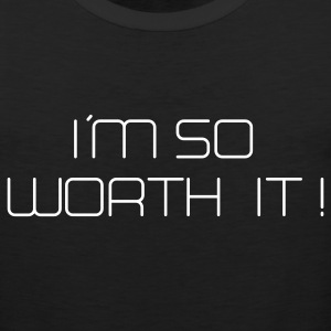 Black im so worth it by wam T-Shirts - Men's Premium Tank