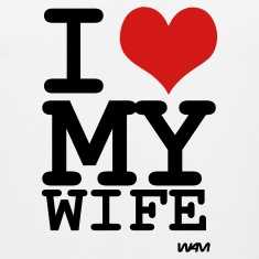 White i love my wife by wam T-Shirts