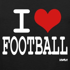 Black i love football by wam T-Shirts