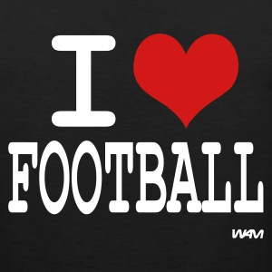 Black i love football by wam T-Shirts - Men's Premium Tank