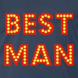 Navy Best Man T-Shirts - Men's Premium T-Shirt