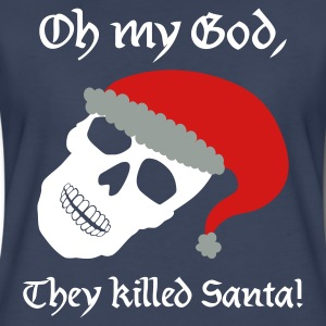 Navy They Killed Santa Plus Size - Women's Premium T-Shirt