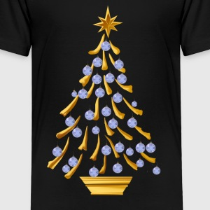 Decorated Gold Christmas Tree - Toddler Premium T-Shirt