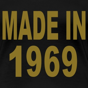 Black Made in 1969 Plus Size - Women's Premium T-Shirt