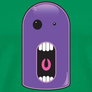 Sage shiny purple monster  T-Shirts - Men's Premium T-Shirt