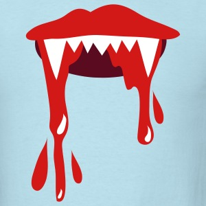 Sky blue vampire lips with lots of blood T-Shirts - Men's T-Shirt