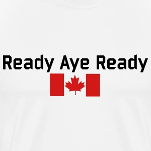 White Read Aye Ready T-Shirts - Men's Premium T-Shirt