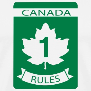 White Canada Rules T-Shirts - Men's Premium T-Shirt